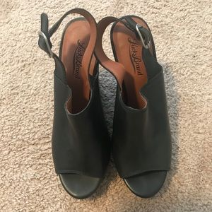 Black Peep Toe Lucky Brand Wedge